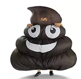 inflatable pile of poo emoji costume